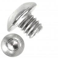 1000 Linsenschrauben mit Innensechskant M3 x 03mm - ISO 7380-1 - Edelstahl A2