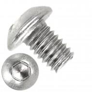 1000 Linsenschrauben mit Innensechskant M3 x 04mm - ISO 7380-1 - Edelstahl A2