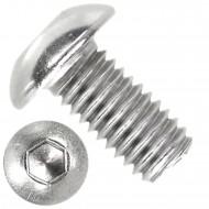 1000 Linsenschrauben mit Innensechskant M3 x 06mm - ISO 7380-1 - Edelstahl A2