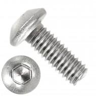 1000 Linsenschrauben mit Innensechskant M4 x 10mm - ISO 7380-1 - Edelstahl A2