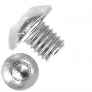 500 Linsenschrauben mit Innensechskant M5 x 05mm - ISO 7380-1 - Edelstahl A2