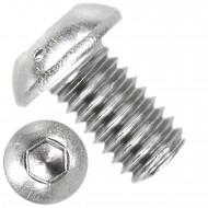500 Linsenschrauben mit Innensechskant M6 x 10mm - ISO 7380-1 - Edelstahl A2