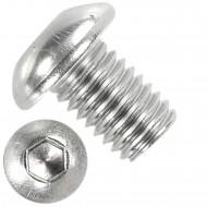 100 Linsenschrauben mit Innensechskant M10 x 12mm - ISO 7380-1 - Edelstahl A2
