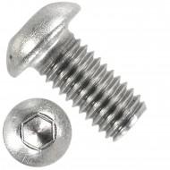 100 Linsenschrauben mit Innensechskant M10 x 18mm - ISO 7380-1 - Edelstahl A2