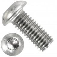 100 Linsenschrauben mit Innensechskant M10 x 20mm - ISO 7380-1 - Edelstahl A2