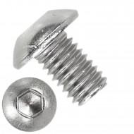 1000 Linsenschrauben mit Innensechskant M3 x 05mm - ISO 7380-1 - Edelstahl A4
