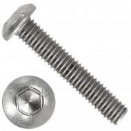 1000 Linsenschrauben mit Innensechskant M3 x 16mm - ISO 7380-1 - Edelstahl A4