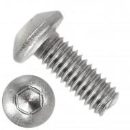 1000 Linsenschrauben mit Innensechskant M4 x 10mm - ISO 7380-1 - Edelstahl A4