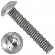 500 Linsenschrauben mit Innensechskant M4 x 20mm - ISO 7380-1 - Edelstahl A4