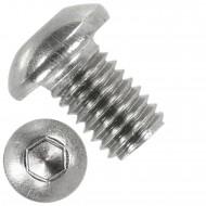 500 Linsenschrauben mit Innensechskant M8 x 12mm - ISO 7380-1 - Edelstahl A4