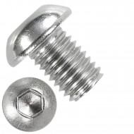 50 Linsenschrauben mit Innensechskant M12 x 16mm - ISO 7380-1 - Edelstahl A4