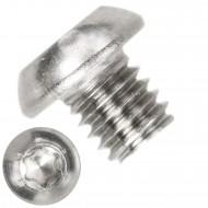 500 Linsenschrauben M6 x 06mm - ISO 7380-1 - TX 30 - Edelstahl A2