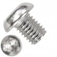 100 Linsenschrauben M10 x 12mm - ISO 7380-1 - TX 50 - Edelstahl A2