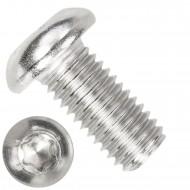 100 Linsenschrauben M10 x 20mm - ISO 7380-1 - TX 50 - Edelstahl A2