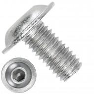 1000 Linsenschrauben mit Flansch M3 x 6mm - ISO 7380-2 - ISK - Edelstahl A4