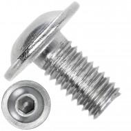 500 Linsenschrauben mit Flansch M5 x 10mm - ISO 7380-2 - ISK - Edelstahl A4