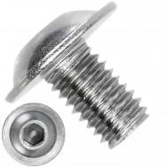 500 Linsenschrauben mit Flansch M6 x 10mm - ISO 7380-2 - ISK - Edelstahl A4