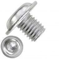 1000 Linsenschrauben mit Flansch M3 x 04mm - ISO 7380-2 - TX10 - Edelstahl A2