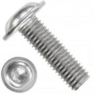 1000 Linsenschrauben mit Flansch M3 x 10mm - ISO 7380-2 - TX10 - Edelstahl A2