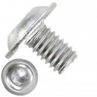 1000 Linsenschrauben mit Flansch M4 x 06mm - ISO 7380-2 - TX20 - Edelstahl A2