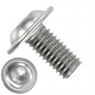 500 Linsenschrauben mit Flansch M5 x 10mm - ISO 7380-2 - TX25 - Edelstahl A2