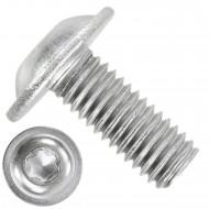 500 Linsenschrauben mit Flansch M5 x 12mm - ISO 7380-2 - TX250 - Edelstahl A2