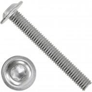 100 Linsenschrauben mit Flansch M6 x 45mm - ISO 7380-2 - TX30 - Edelstahl A2