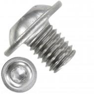 200 Linsenschrauben mit Flansch M8 x 10mm - ISO 7380-2 - TX40 - Edelstahl A2