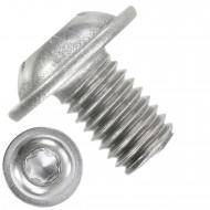 200 Linsenschrauben mit Flansch M8 x 12mm - ISO 7380-2 - TX40 - Edelstahl A2