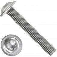 100 Linsenschrauben mit Flansch M8 x 50mm - ISO 7380-2 - TX40 - Edelstahl A2