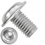 100 Linsenschrauben mit Flansch M10 x 16mm - ISO 7380-2 - TX50 - Edelstahl A2
