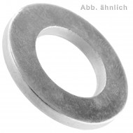 100 flache Scheiben ISO 7089 Stahl vergütet 300HV galvanisch Verzinkt für M12