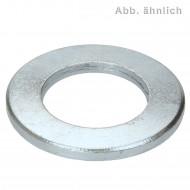 100 U-Scheiben DIN 125 Form B galvanisch verzinkt 10,5 mm für M10