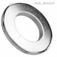 1000 U-Scheiben DIN 125 Form A Stahl galvanisch vernickelt für M6