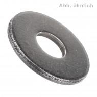 500 Unterlegscheiben DIN 9021 für M8 - Aussen-Ø = 24 mm - Stahl