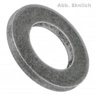 10 U-Scheiben DIN 125 Form B Stahl ÜH blank 50 mm für M48