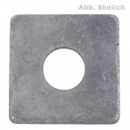 50 Vierkantscheiben für M16 - DIN 436 - feuerverzinkt