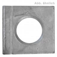 1 Vierkantscheibe - keilförmig 14% - 17 mm - DIN 6917 - Feuerverzinkt