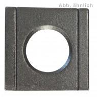 1 Vierkantscheibe - keilförmig 8% - 17 mm - DIN 6918 - Stahl vergütet