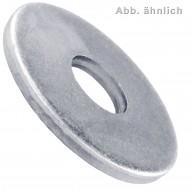 25 Unterlegscheiben DIN 440 Form R - für M36 - Aussen-Ø=125mm - verzinkt