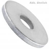100 U-Scheiben DIN 440 Form R blank 11 mm für M10