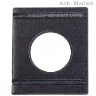 100 Vierkantscheiben für M8 - DIN 434 - 8% Neigung - blank
