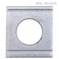 100 Vierkantscheiben für M16 - DIN 434 - 8% Neigung - verzinkt
