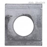 100 Vierkantscheiben für M12 - DIN 434 - 8% Neigung - feuerverzinkt