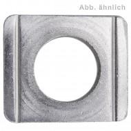 50 Vierkantscheiben für M10 - DIN 434 - 8% Neigung - Edelstahl A2