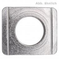 25 Vierkantscheiben für M16 - DIN 434 - 8% Neigung - Edelstahl A4