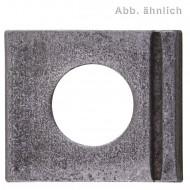 100 Vierkantscheiben für M8 - DIN 435 - 14% Neigung - blank
