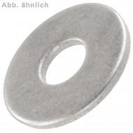 500 Unterlegscheiben DIN 9021 für M10 - Aussen-Ø =  30 mm - Edelstahl A4
