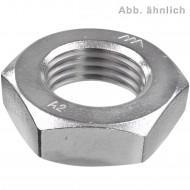 100 Sechskantmuttern - DIN 439 - M16 - niedrige Form - Edelstahl A2