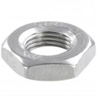 100 Sechskantmuttern - M10 - Feingewinde 1mm - niedrig, Form B - A2 - DIN 439